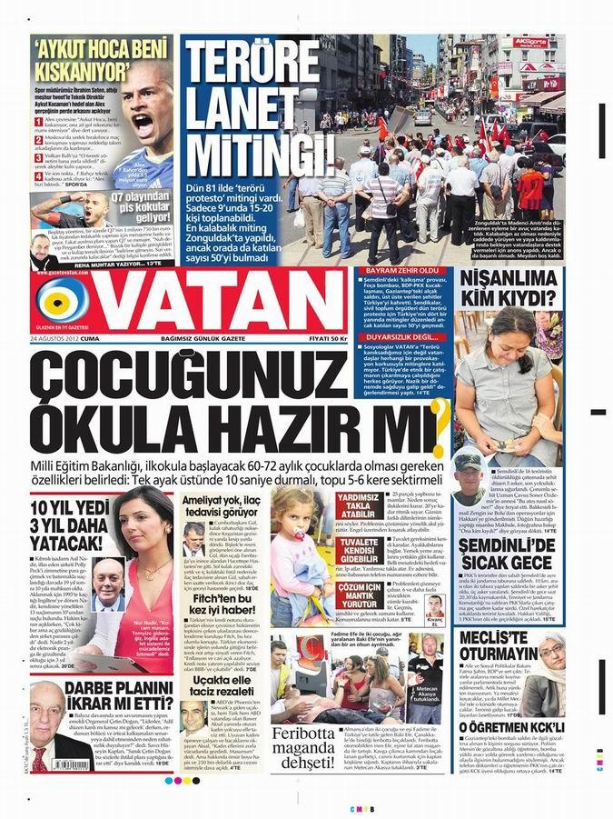 Gazete Manşetleri - 24 Ağustos Cuma 5