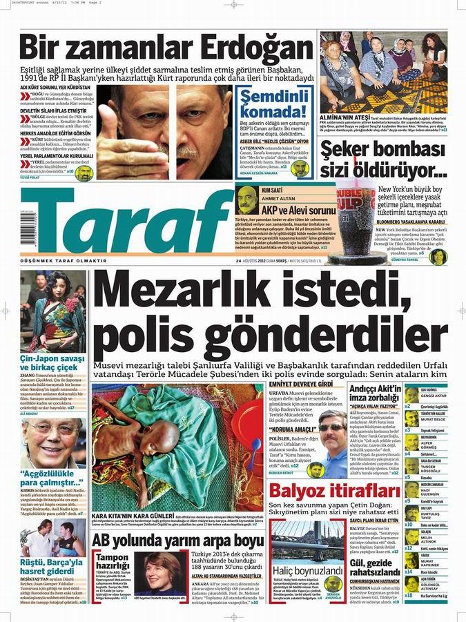Gazete Manşetleri - 24 Ağustos Cuma 8