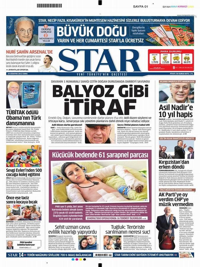 Gazete Manşetleri - 24 Ağustos Cuma 9