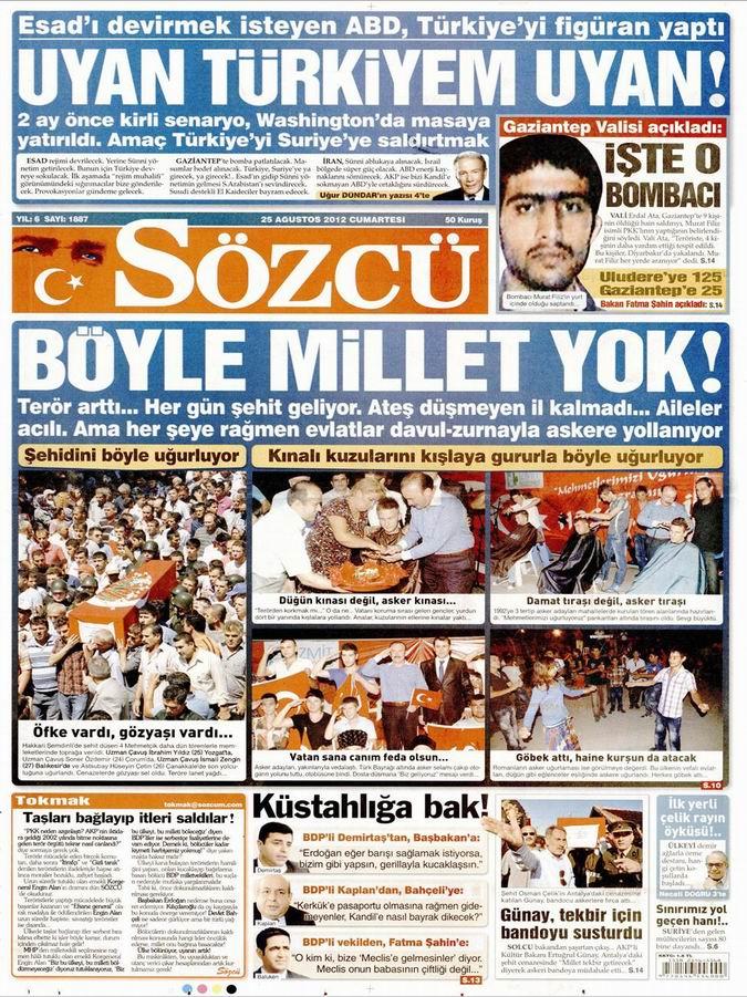 Gazete Manşetleri - 25 Ağustos Cumartesi 11