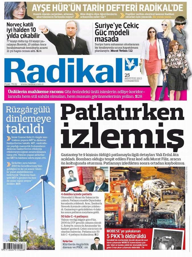 Gazete Manşetleri - 25 Ağustos Cumartesi 13