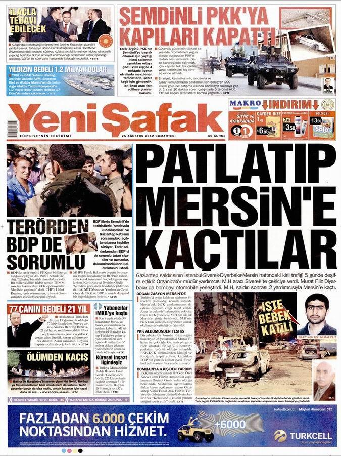 Gazete Manşetleri - 25 Ağustos Cumartesi 3