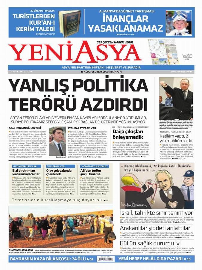 Gazete Manşetleri - 25 Ağustos Cumartesi 4