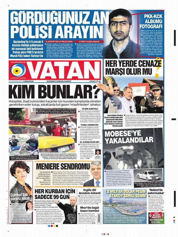 Gazete Manşetleri - 25 Ağustos Cumartesi 6
