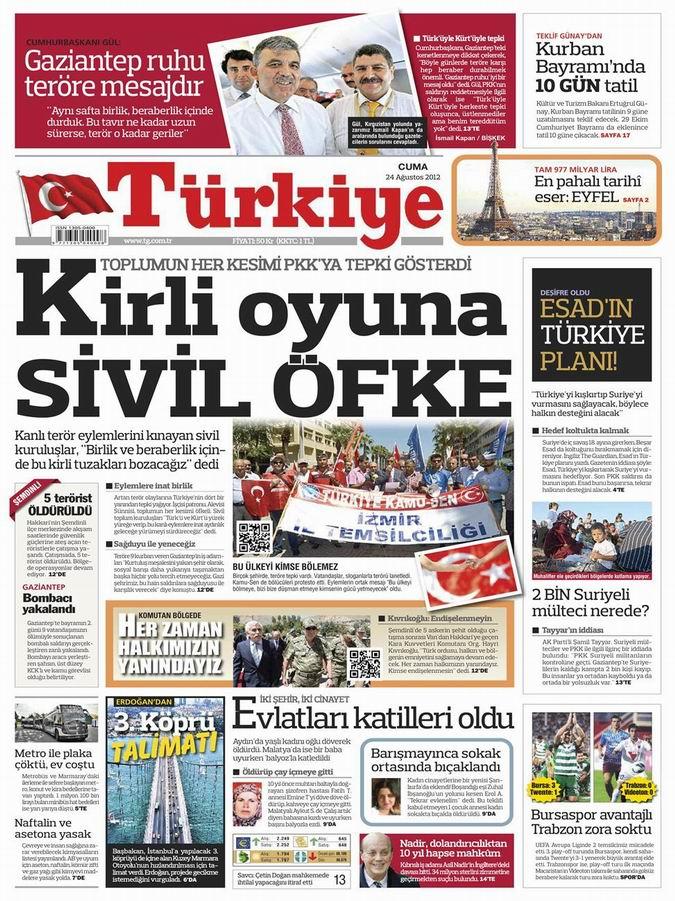 Gazete Manşetleri - 25 Ağustos Cumartesi 7