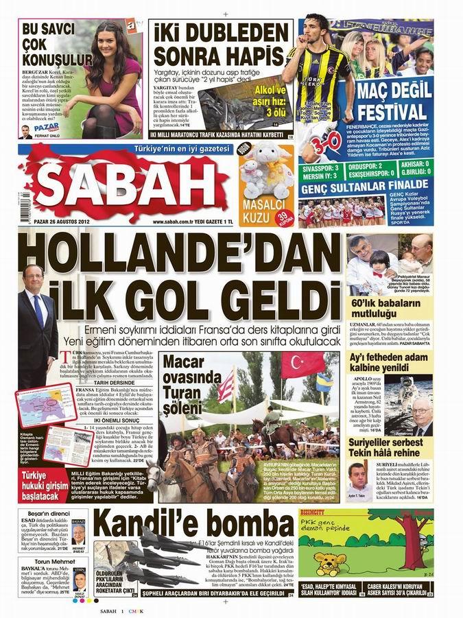 Gazete Manşetleri - 26 Ağustos Pazar 11