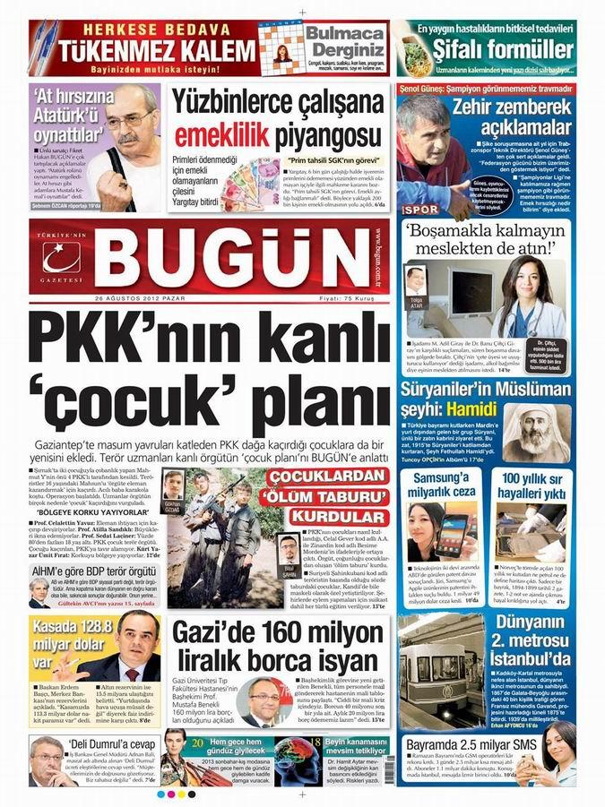 Gazete Manşetleri - 26 Ağustos Pazar 22