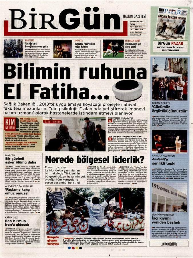 Gazete Manşetleri - 26 Ağustos Pazar 23
