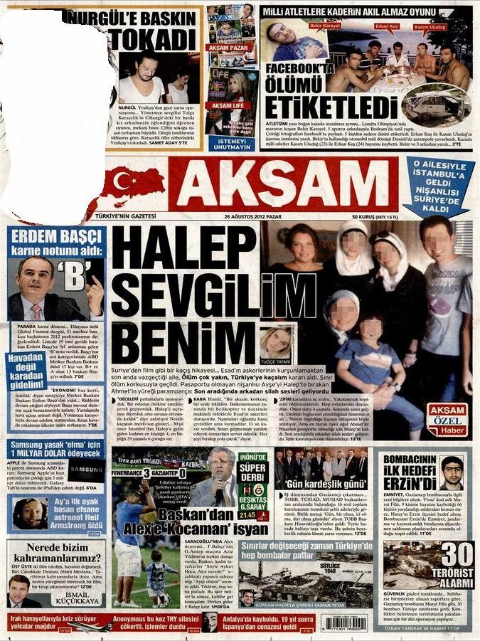 Gazete Manşetleri - 26 Ağustos Pazar 24
