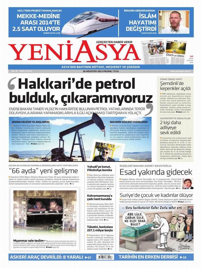 Gazete Manşetleri - 26 Ağustos Pazar 3
