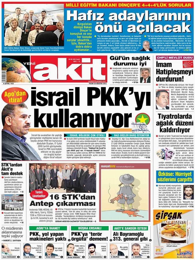 Gazete Manşetleri - 26 Ağustos Pazar 4