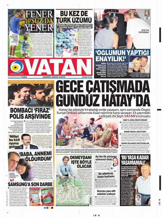 Gazete Manşetleri - 26 Ağustos Pazar 5