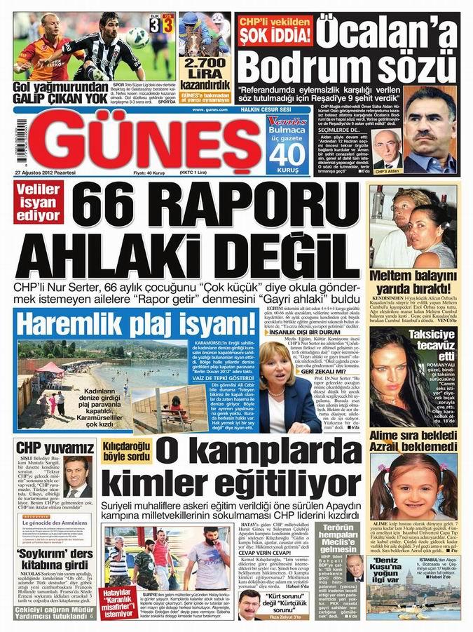 Gazete Manşetleri - 27 Ağustos Pazartesi 16