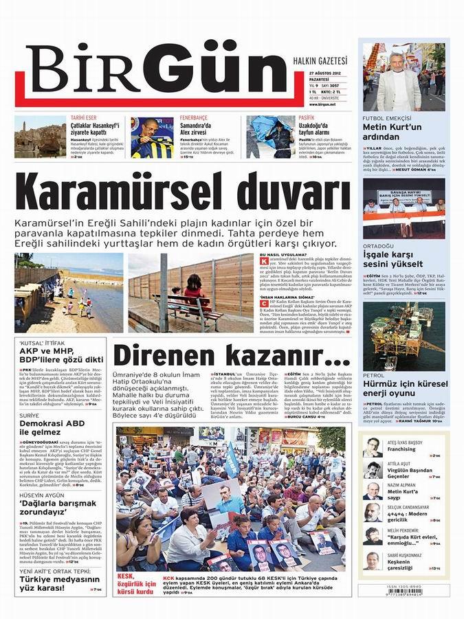Gazete Manşetleri - 27 Ağustos Pazartesi 18
