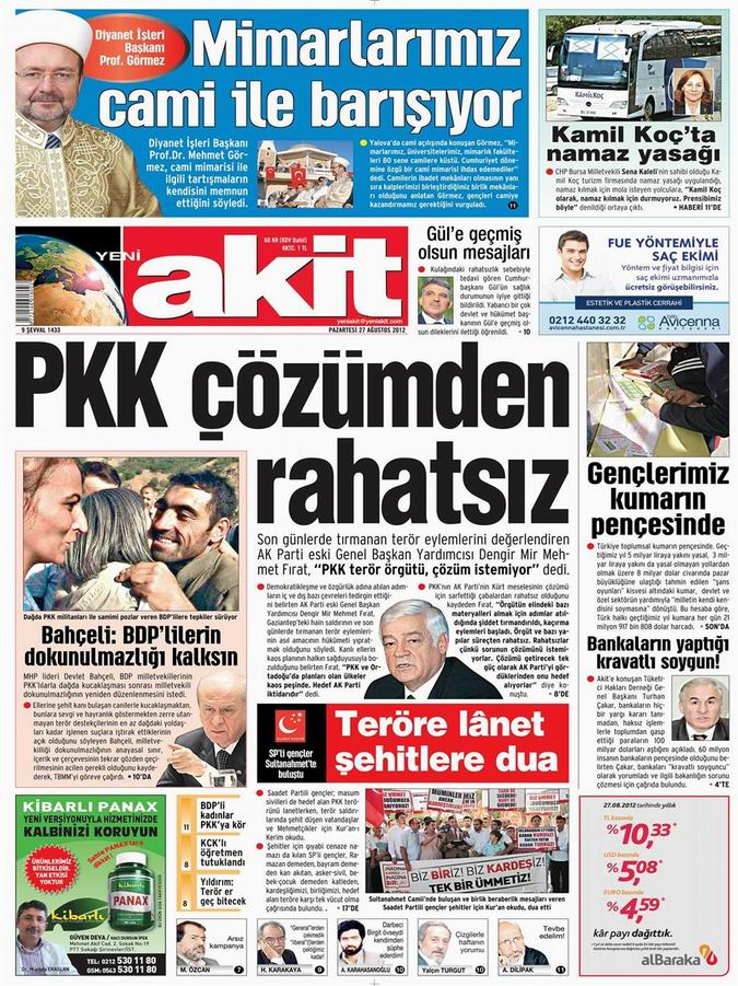 Gazete Manşetleri - 27 Ağustos Pazartesi 4