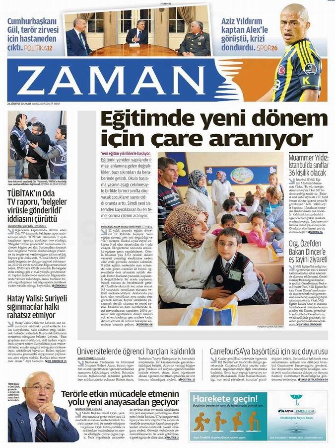 Gazete Manşetleri - 28 Ağustos Salı 1