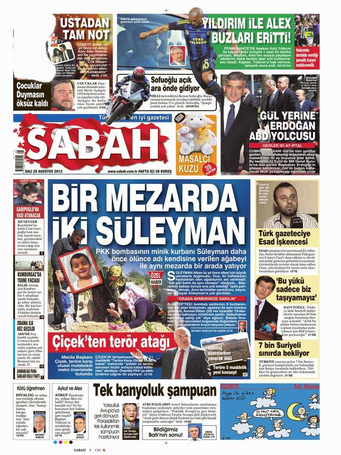 Gazete Manşetleri - 28 Ağustos Salı 11