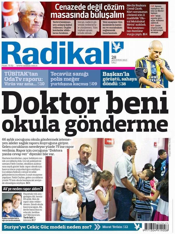 Gazete Manşetleri - 28 Ağustos Salı 12