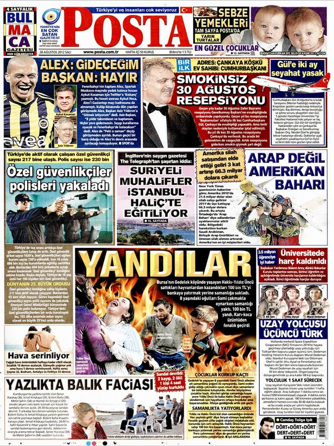 Gazete Manşetleri - 28 Ağustos Salı 13