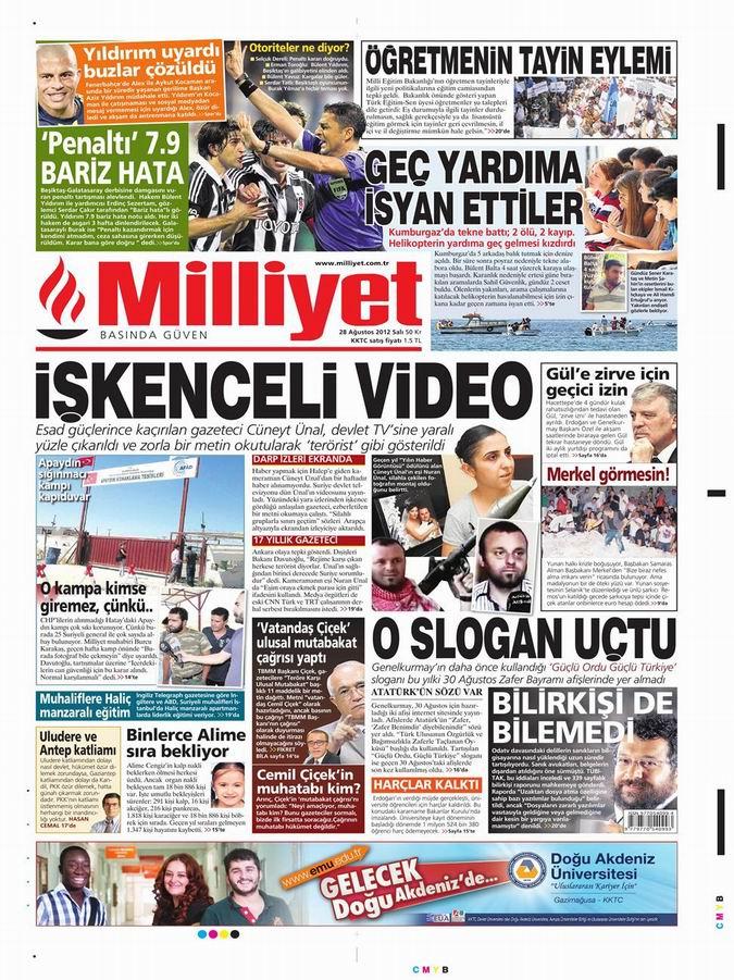 Gazete Manşetleri - 28 Ağustos Salı 14
