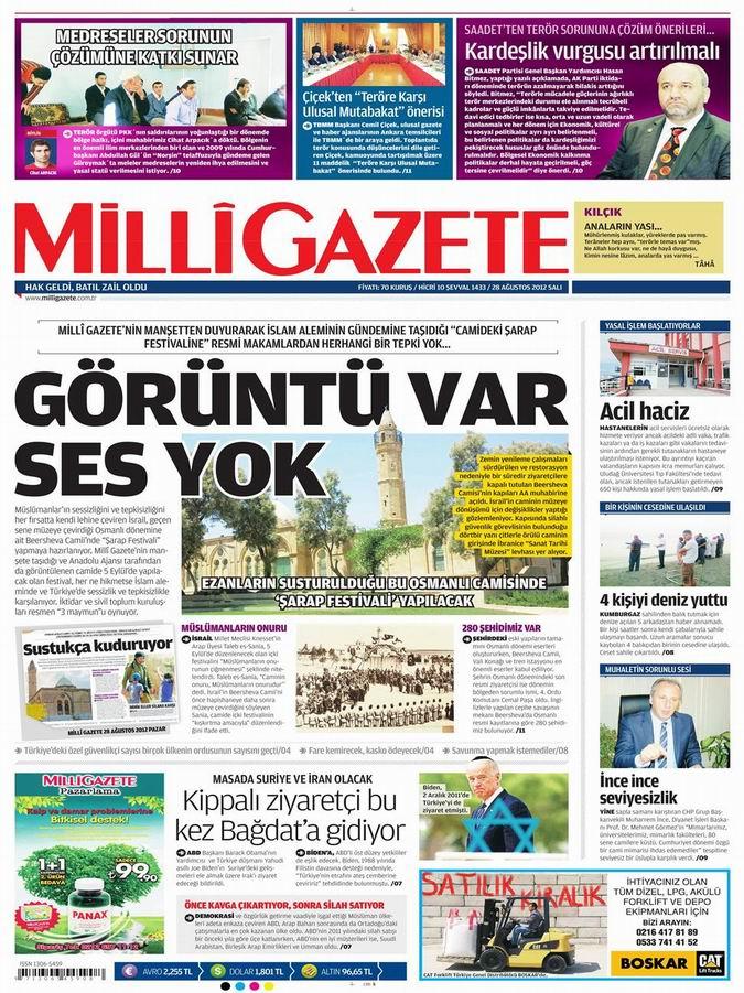 Gazete Manşetleri - 28 Ağustos Salı 15