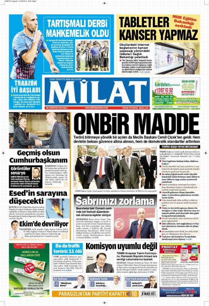 Gazete Manşetleri - 28 Ağustos Salı 16
