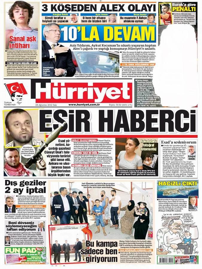 Gazete Manşetleri - 28 Ağustos Salı 17