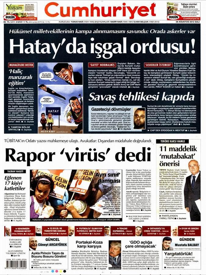 Gazete Manşetleri - 28 Ağustos Salı 20
