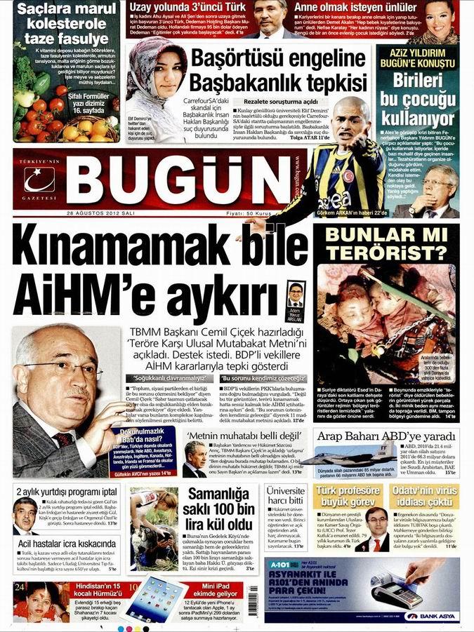 Gazete Manşetleri - 28 Ağustos Salı 21