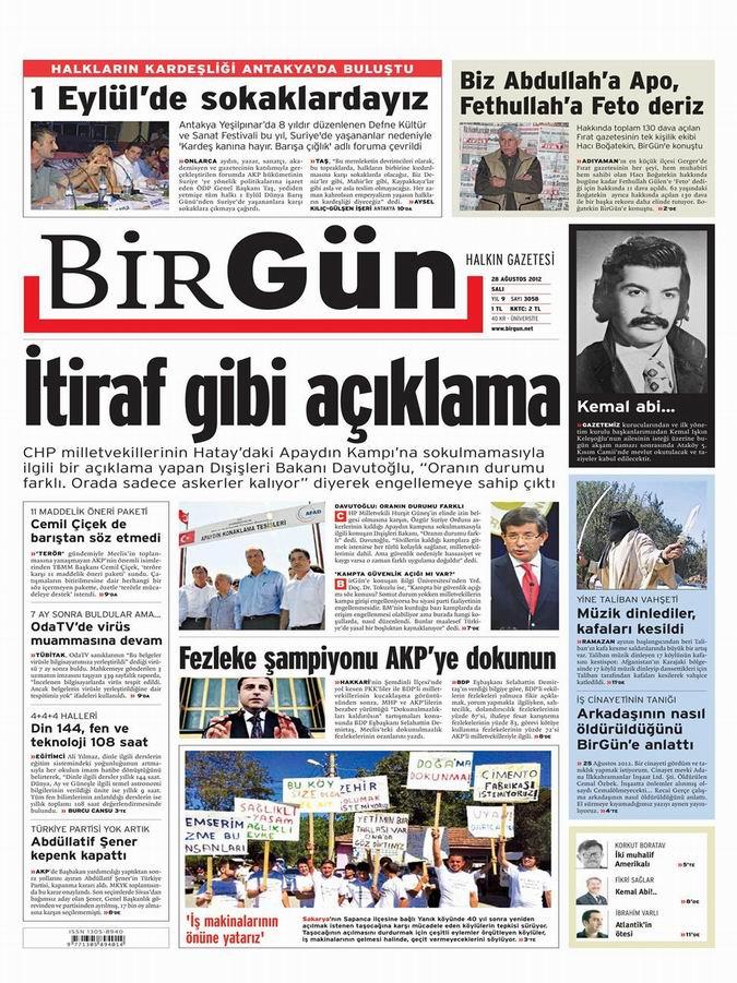 Gazete Manşetleri - 28 Ağustos Salı 22