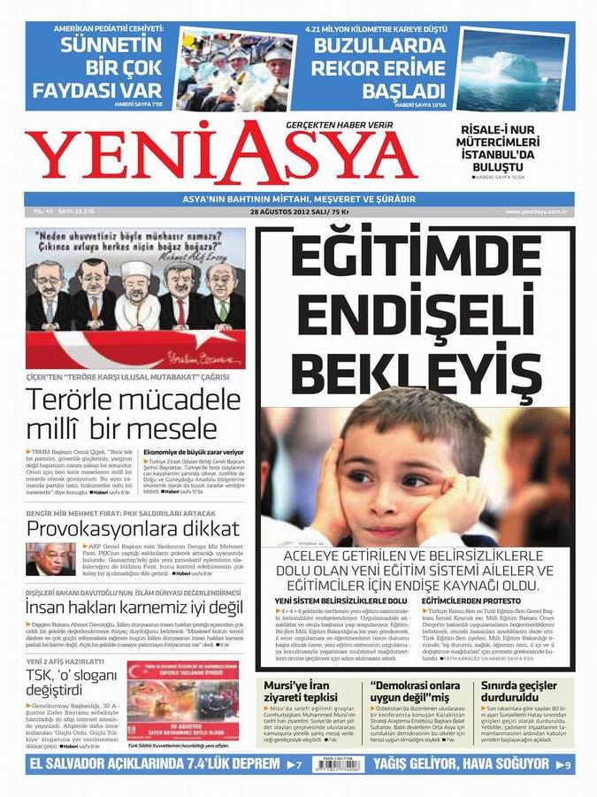 Gazete Manşetleri - 28 Ağustos Salı 3