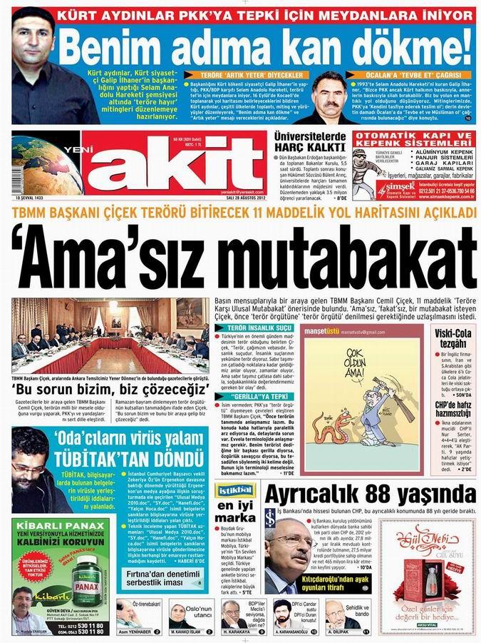 Gazete Manşetleri - 28 Ağustos Salı 4