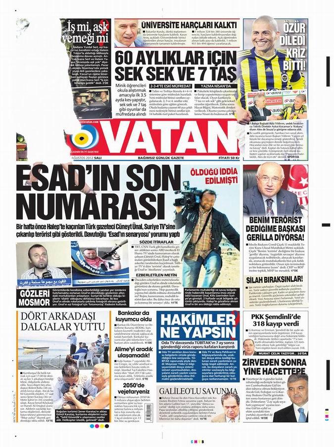 Gazete Manşetleri - 28 Ağustos Salı 5