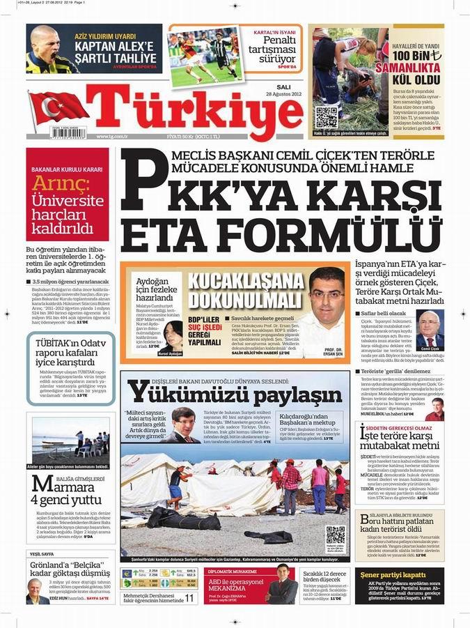 Gazete Manşetleri - 28 Ağustos Salı 6
