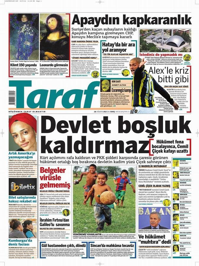 Gazete Manşetleri - 28 Ağustos Salı 8