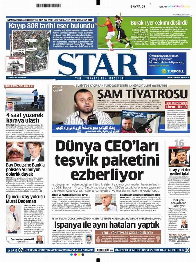 Gazete Manşetleri - 28 Ağustos Salı 9