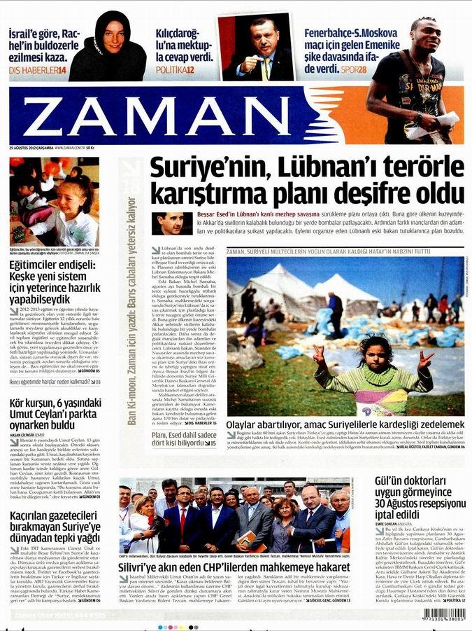 Gazete Manşetleri - 29 Ağustos Çarşamba 1