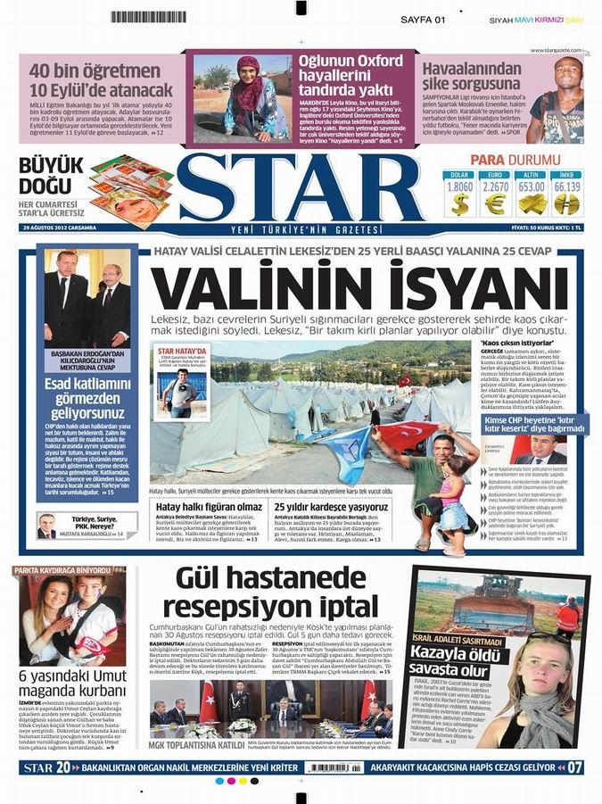 Gazete Manşetleri - 29 Ağustos Çarşamba 10