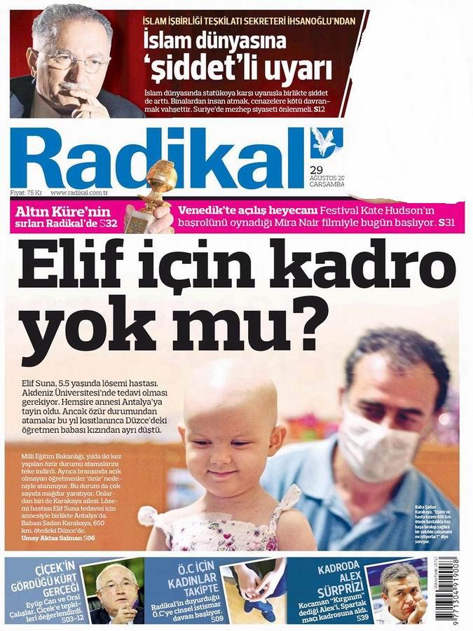 Gazete Manşetleri - 29 Ağustos Çarşamba 13