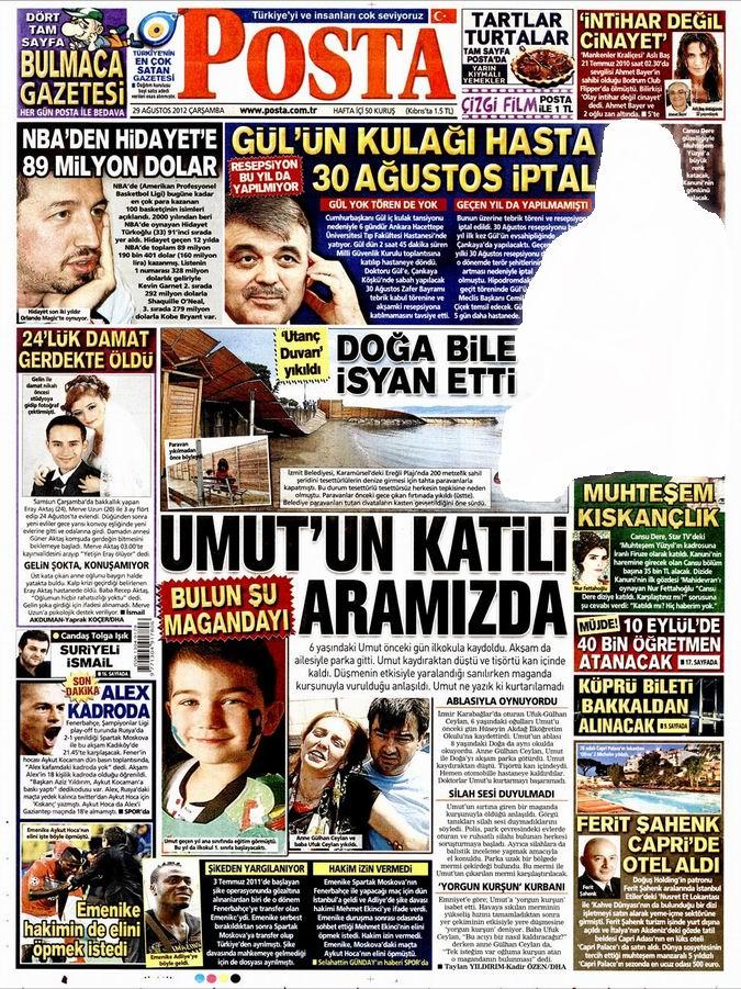 Gazete Manşetleri - 29 Ağustos Çarşamba 14