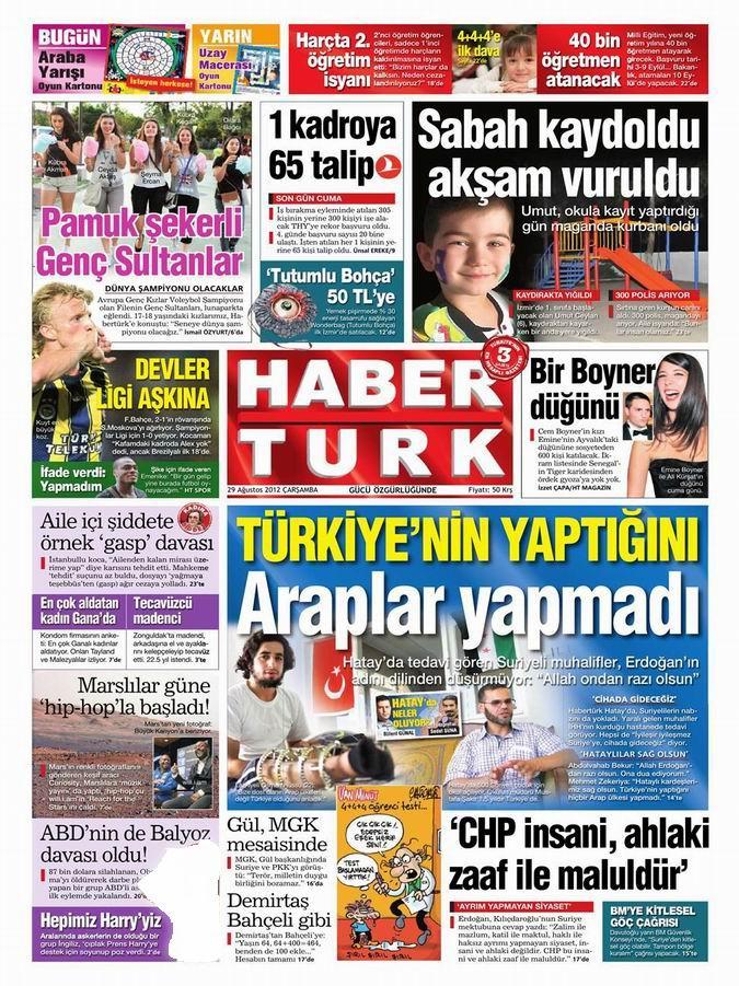 Gazete Manşetleri - 29 Ağustos Çarşamba 18