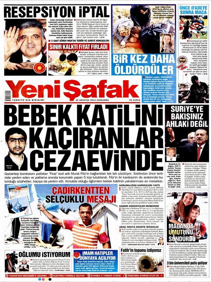 Gazete Manşetleri - 29 Ağustos Çarşamba 2