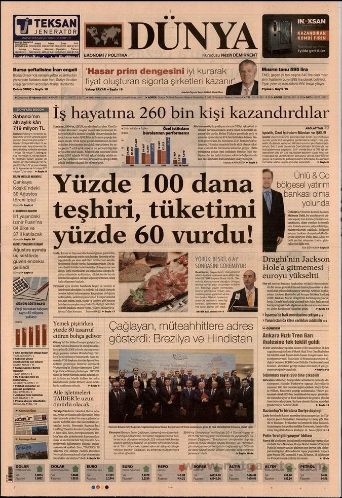 Gazete Manşetleri - 29 Ağustos Çarşamba 20