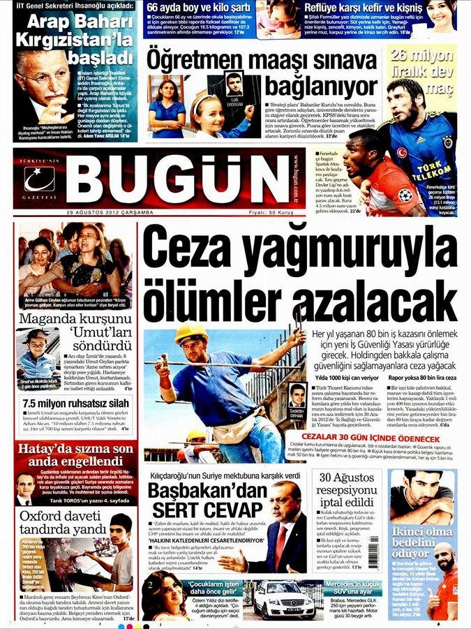 Gazete Manşetleri - 29 Ağustos Çarşamba 22
