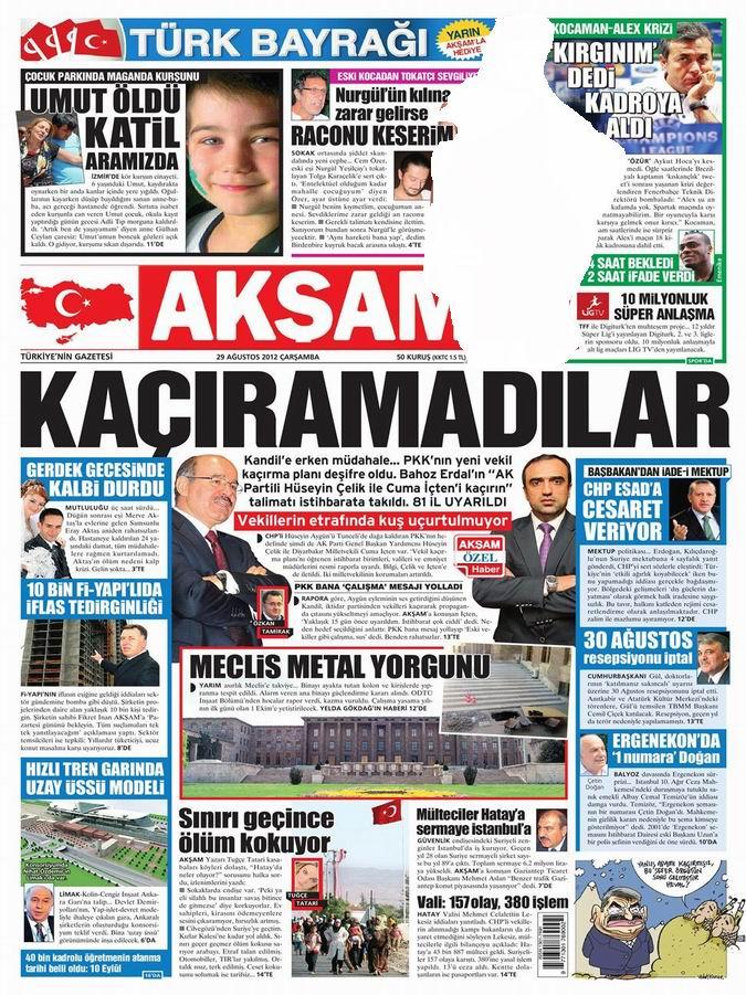 Gazete Manşetleri - 29 Ağustos Çarşamba 24