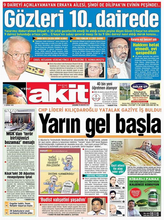 Gazete Manşetleri - 29 Ağustos Çarşamba 4