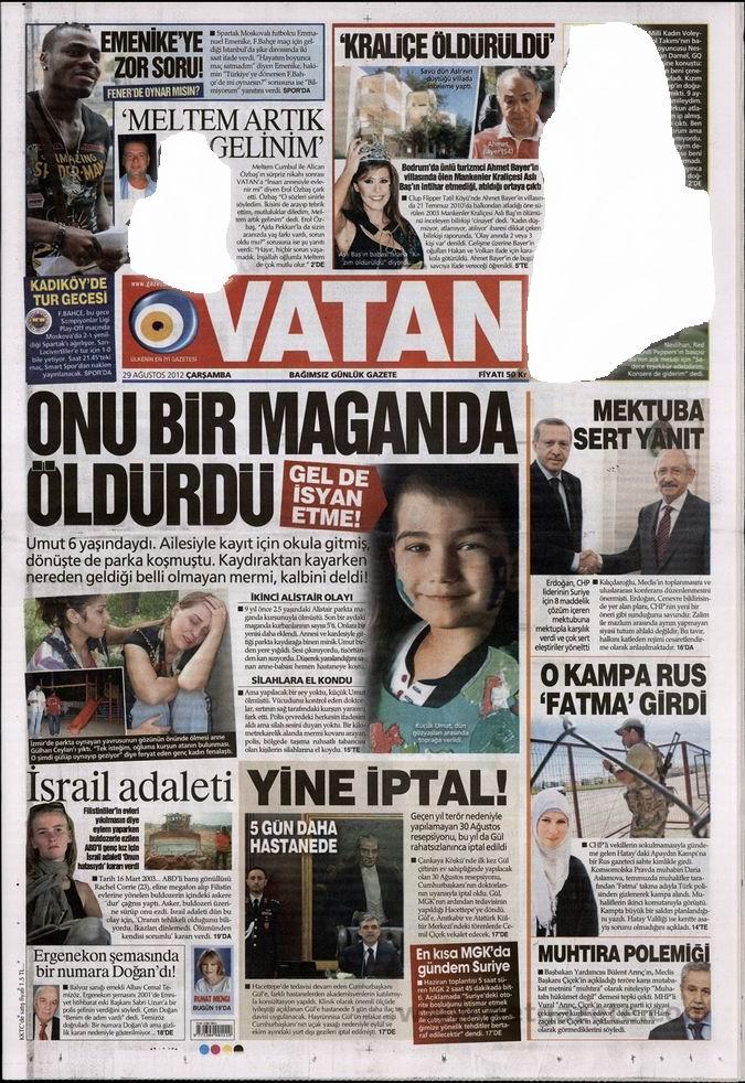 Gazete Manşetleri - 29 Ağustos Çarşamba 5