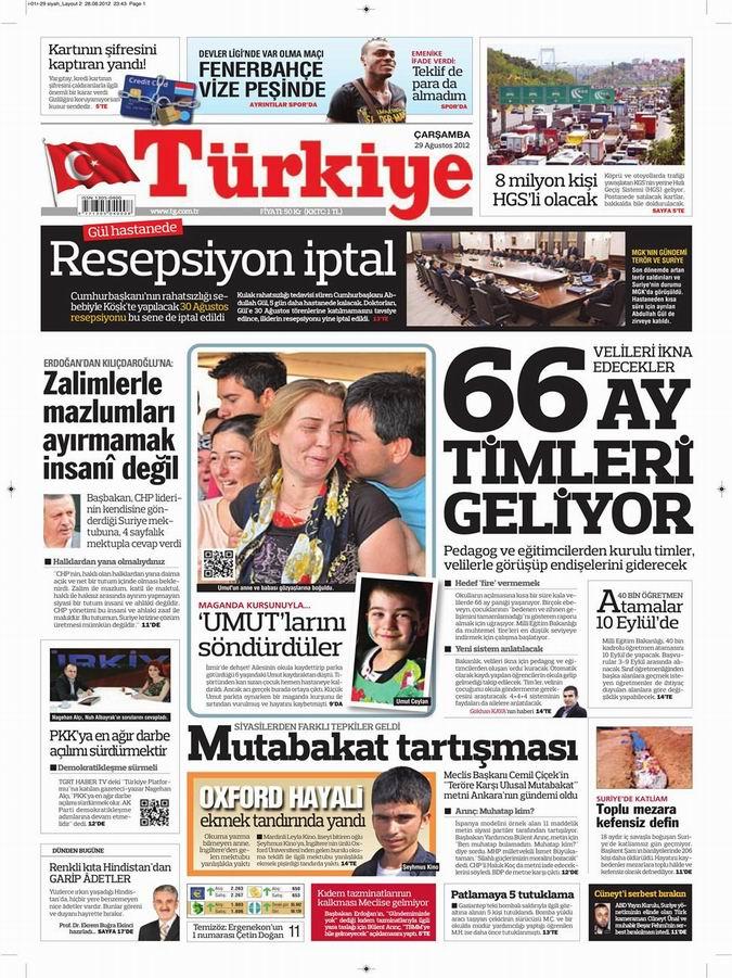 Gazete Manşetleri - 29 Ağustos Çarşamba 6