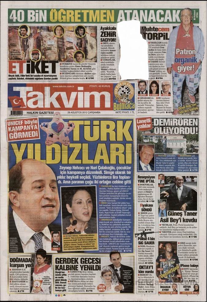 Gazete Manşetleri - 29 Ağustos Çarşamba 9