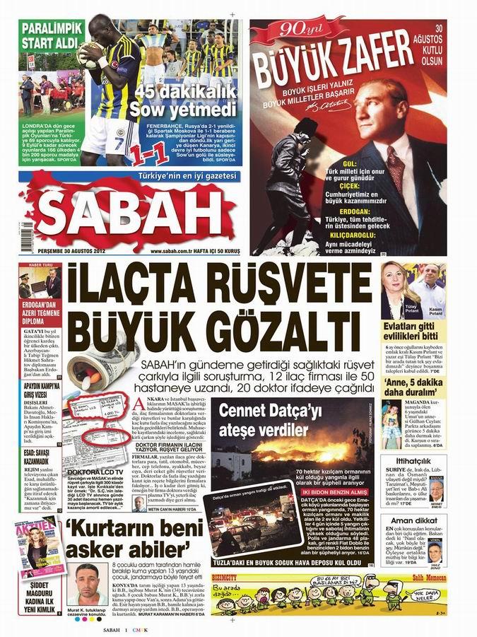 Gazete Manşetleri - 30 Ağustos Perşembe 11